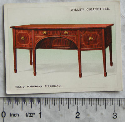 1923 Wills Old Furniture 1st Series No 24 Inlaid Mahogany Sideboard