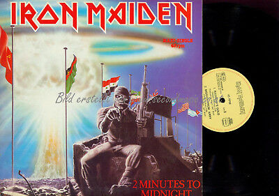 LP-MAXI -- Iron Maiden ‎– 2 Minutes To Midnight  // EMI 0622002866 //  1984