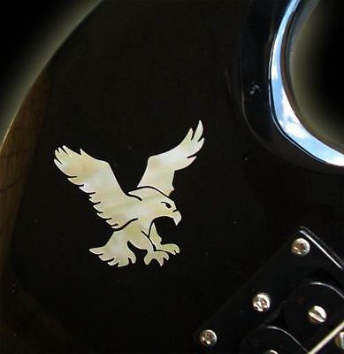 Jockomo Inlay Sticker / Headstock oder Body Decal S-Garcia's Eagle, Made Japan