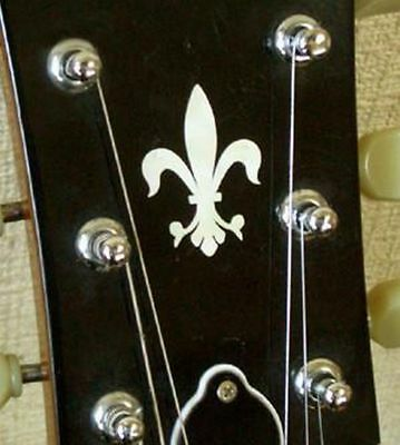 Jockomo Inlay Sticker / Headstock Decal Fleur de Lys, Made Japan