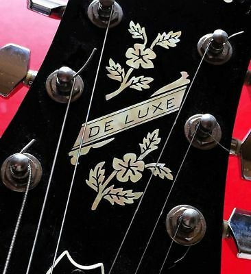 Jockomo Inlay Sticker / Headstock Decal De Luxe Flowers, Made Japan