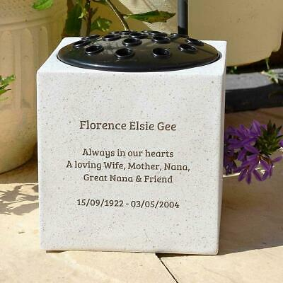 Personalised Customised Memorial Graveside Flower Rose Bowl Vase Pot