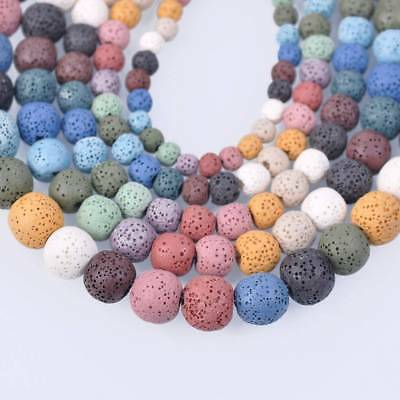 Natural Lava Stone Volcano Round Loose Spacer Beads 6mm 8mm 10mm 12mm 14mm