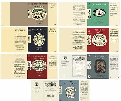 C.s. Lewis - Narnia - Seven Facsimile Dust-Jackets - Sold Individually