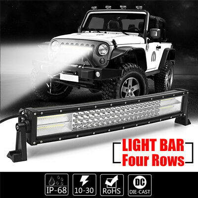 "Curved 22"" Inch LED Faros Luz de trabajo Bar Spot Flood Combo Offroad Driving"