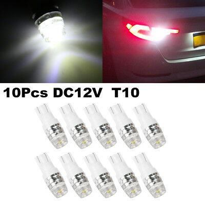 10pcs T10 W5W 2323 SMD 1 LED White Car Wedge Dome Map Light Bulbs Interior 194