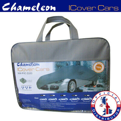 Large Universal (L) Full Car Cover 100% Water Rain Resistant UV Protection