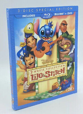 Lilo and Stitch (Blu-ray+DVD, 2011; 2-Movie Collection, 3-Disc Set) w/ Slipcover