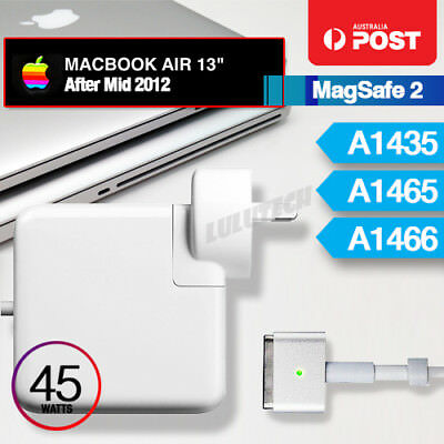 "45W MagSafe 2 T Power Adapter Charger for Apple MacBook Air 11"" 13"" A1435 A1465"