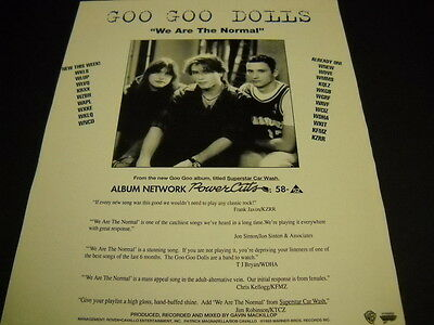 GOO GOO DOLLS ...are normal 1993 full page magazine FRAMEABLE ADVERT