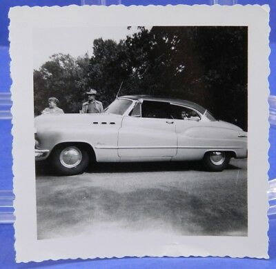 Buick Super Hardtop Photograph 1950 Snapshot Vintage Photo Old Car