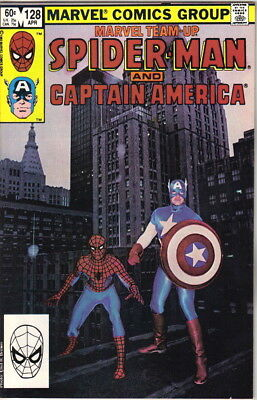 Marvel Team-Up Comic Book #128 Spider-Man and Captain America 1983 VERY FINE-