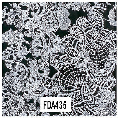 Decopatch Decoupage Printed Paper FDA435 White Lace Flowers