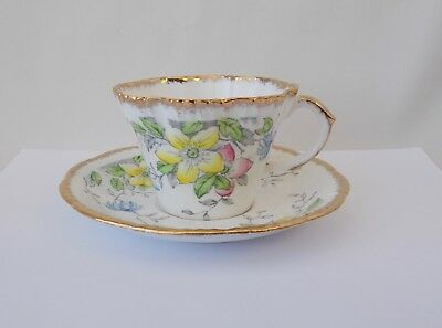 Alba Tea Cup & Saucer by Salisbury~~Fine Bone China~~Made in England