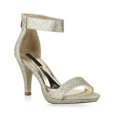 NEW DESIGN DAMEN SCHUHE 123711 SANDALETTEN GOLD 40