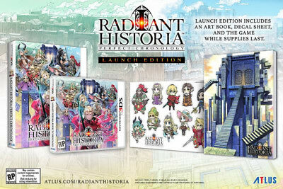 Radiant Historia: Perfect Chronology First Launch Ed [Nintendo 3DS Art Book] NEW