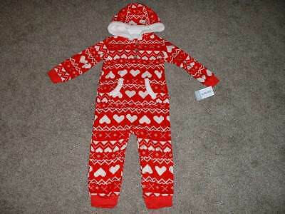 27450368d8 Carters Baby Girl Red Fleece Heart Outfit One-Piece Size 3 24 Months 3M 24M