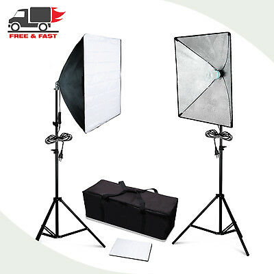 Lusana Photo Studio Softbox Continuous Photography Lighting Kit With Carry Bag