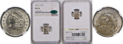 1832 Bust Half Dime NGC MS-64 CAC