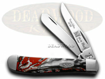 CASE Genuine Man In Black Corelon 1/500 Trapper Knives