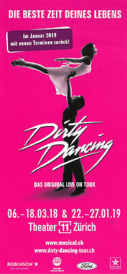 Dirty Dancing - Theater 11 Zürich - Original Musical Flyer 2018/19