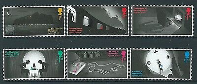 Great Britain 2016 Agatha Christie Set Of 6 Singles  Unmounted Mint, Mnh