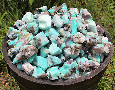 1/2 lb Lot Bulk Natural Rough Amazonite Crystal Healing Raw (8 oz)