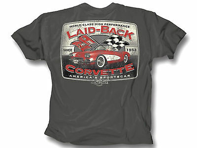 Corvette T-Shirt C1 America's Sports Car Laid Back Charcoal