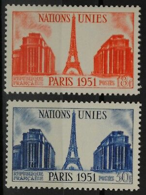 1951 FRANCE TIMBRE Y & T N° 911/12 Neufs * * SANS CHARNIERE