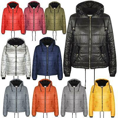Girls Jacket Kids Bella High Shine Hooded Padded Quilted Puffer Jackets 5-13 Yrs