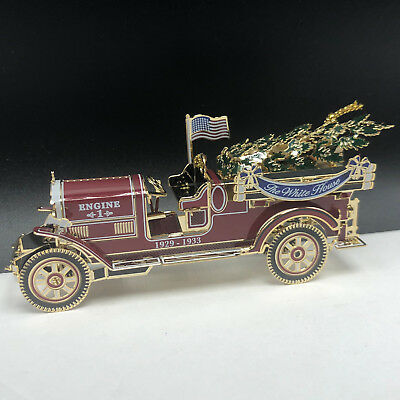WHITE HOUSE HISTORICAL ASSOCIATION Christmas ornament Hoover fire truck engine