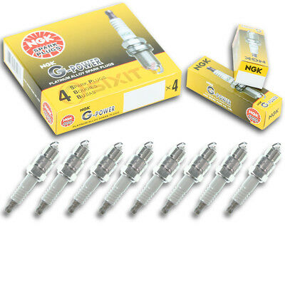8pcs NGK 2869 G-Power UR4GP Inboard Marine Spark Plug Tune Up Kit Set ao