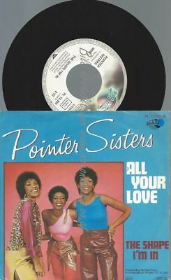 "7""  Pointer Sisters ‎– All Your Love //AT"