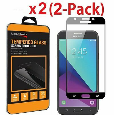 2-Pack Full Cover Tempered Glass Screen Protector For Galaxy J7 V/Sky Pro/Prime