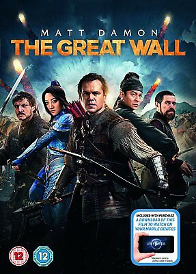 THE GREAT WALL DVD NEW Matt Damon Zhang Yimou