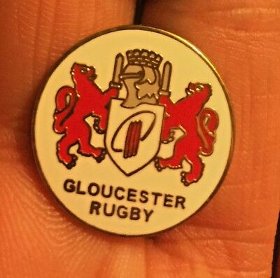 Gloucester Rugby Union Crest Enamel Pin Badge