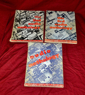 RARE FIRST THREE ISSUES Audio Anthology  by Audio Engineering Magazine * 1950