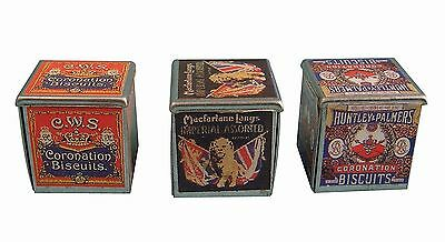 Dolls House Miniature Biscuit tins Vintage Kitchen Accessory 1:12