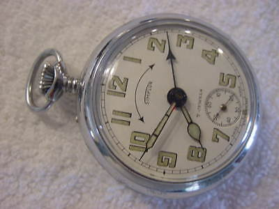 Vintage large antique pre 1920 Art Deco SIMPLOR MECHANICAL ALARM pocket watch