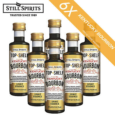 6 x Still Spirits Top Shelf Kentucky Bourbon Home Brew Essence
