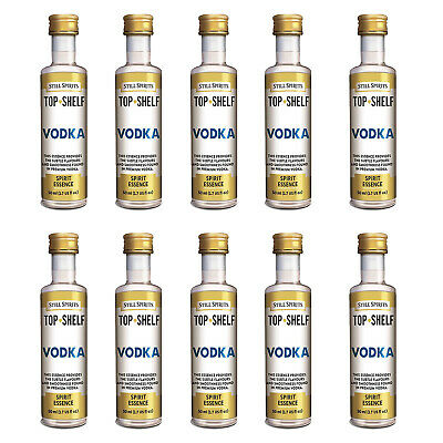 10 x Still Spirits Top Shelf  Vodka 50ml Essence Home Brew  FP