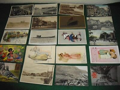 Interesting postcard collection job lot 20 postcards lot 8