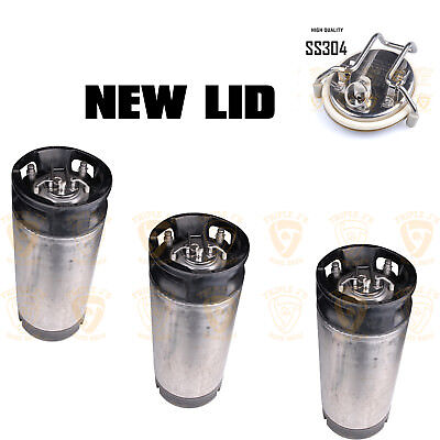 3 x 19 liter L Pin Lock Post Used Keg with new lid Home Brew Beer