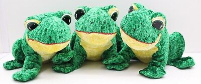 New Wholesale Job Lot of 3 x Gorgeous Cuddly Plush Green Frogs  -  Free P&P