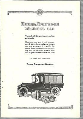 1921 DODGE BROTHERS advertisement, Business Car, small truck