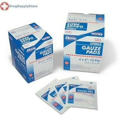 Cramer Gauze Pads, 100% Woven Cotton, Sterile Non-Stick Gauze, Open Wound Cover,