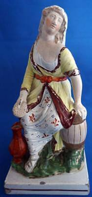 """Staffordshire Pearlware Pottery Figure """"The Widow"""" Antique"""