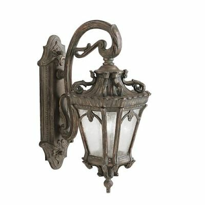 "Kichler 9357LD Tournai 2 Light 10""W Outdoor Wall Sconce with Seedy Glass Panels"