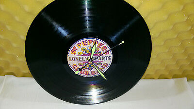 "THE BEATLES Sgt. Pepper's Lonely Hearts Club Band  VINYL 12"" lp Wall Clock"
