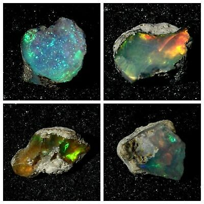 A++ Best Quality Natural Ethiopian Welo Fire Opal Rough Gemstone Free Form Size